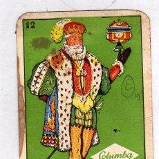 Jeux de cartes: CARTA BARAJA CON PUBLICIDAD DE CHOCOLATES Y CAFES COLUMBA, REY DE COPAS. FORTUNA.. Lote 59211260