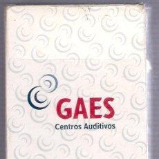 Barajas de cartas: -65269 BARAJA ESPAÑOLA CENTROS AUDITIVOS GAES, NAIPES COMAS, PUBLICITARIA. Lote 59470515