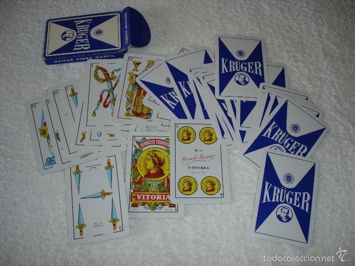 Barajas de cartas: BARAJA CARTAS, HERACLIO FOURNIER - KRUGER. 40 NAIPES. - Foto 3 - 59663359