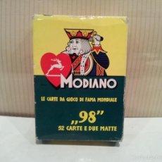 Barajas de cartas: BARAJA DE CARTAS MODIANO POKER NUMERO 98 MUY BUEN ESTADO. Lote 59827600