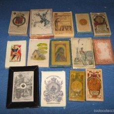 Barajas de cartas: LOTE COMPUESTO POR 14 BARAJAS FASCIMIL DEL AÑO 2004 - VER FOTOS. Lote 60253027