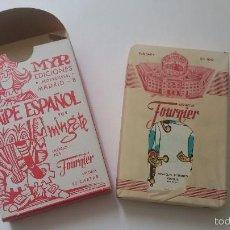 Barajas de cartas: BARAJA DE NAIPE ESPAÑOL. 50 CARTAS. FOURNIER FIBRA MARFIL. AMIGOS DE PALAMÓS. ILUST: MINGOTE. Lote 60357131