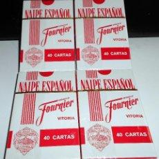 Barajas de cartas: LOTE 4 CAJAS NAIPE ESPAÑOL HERACLIO FOURNIER CARTAS BARAJAS CLÁSICAS. Lote 60496115