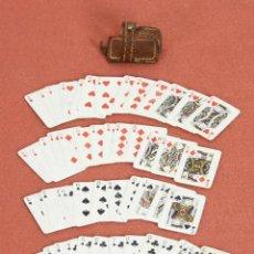 Barajas de cartas: NAI-001. ANTIGUO JUEGO DE MINI CARTAS DE NAIPES. ESPAÑA. CIRCA 1950.. Lote 59505979