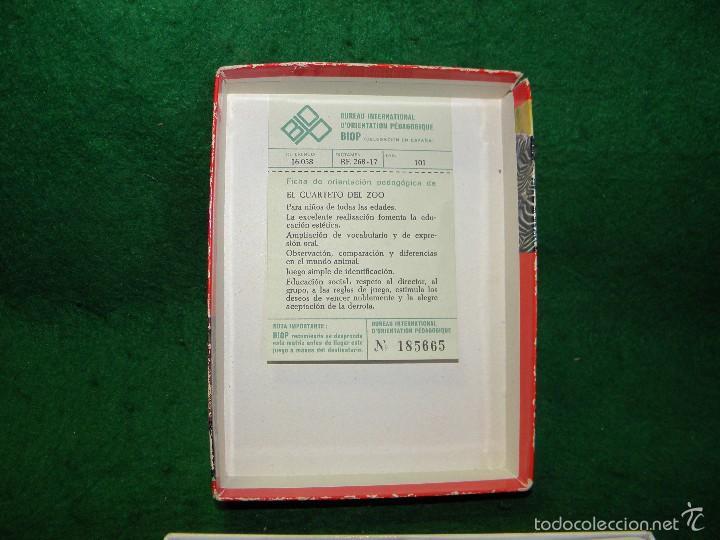 Barajas de cartas: BARAJA EL CUARTETO DEL ZOO DE EDUCA - Foto 2 - 60534823