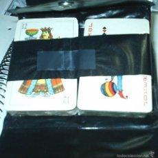 Barajas de cartas: 2 BARAJAS EN SU ESTUCHE CON CIERRE DE CLIC 12,5 X 9,5 - PRECIOSAS PERFECTAS-IMPORTANTE LEER TODO. Lote 60576299