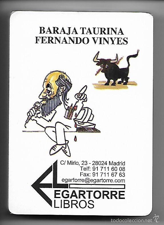 BARAJA TAURINA DE FERNANDO VINYES, 52 CARTAS CARICATURAS DE TOREROS + 3 COMODINES, PRECINTADA. (Juguetes y Juegos - Cartas y Naipes - Baraja Española)