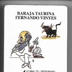 Barajas de cartas: BARAJA TAURINA DE FERNANDO VINYES, 52 CARTAS CARICATURAS DE TOREROS + 3 COMODINES, PRECINTADA.. Lote 86181447