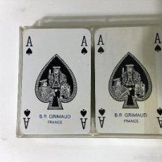 Barajas de cartas: 2 BARAJAS DE POKER B.P. GRIMAUD FRANCIA. Lote 60890087