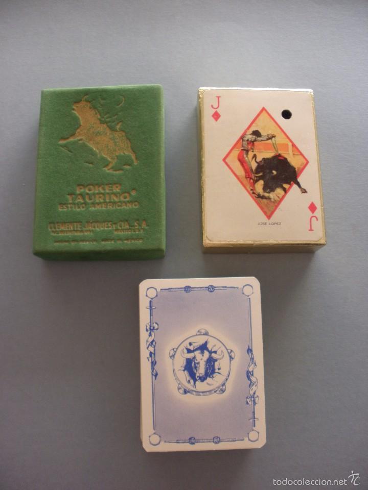 Barajas de cartas: BARAJA NAIPES TAURINA RUANO LLOPIS, CLEMENTE JACQUES, MEXICO 1940 - Foto 2 - 118221996