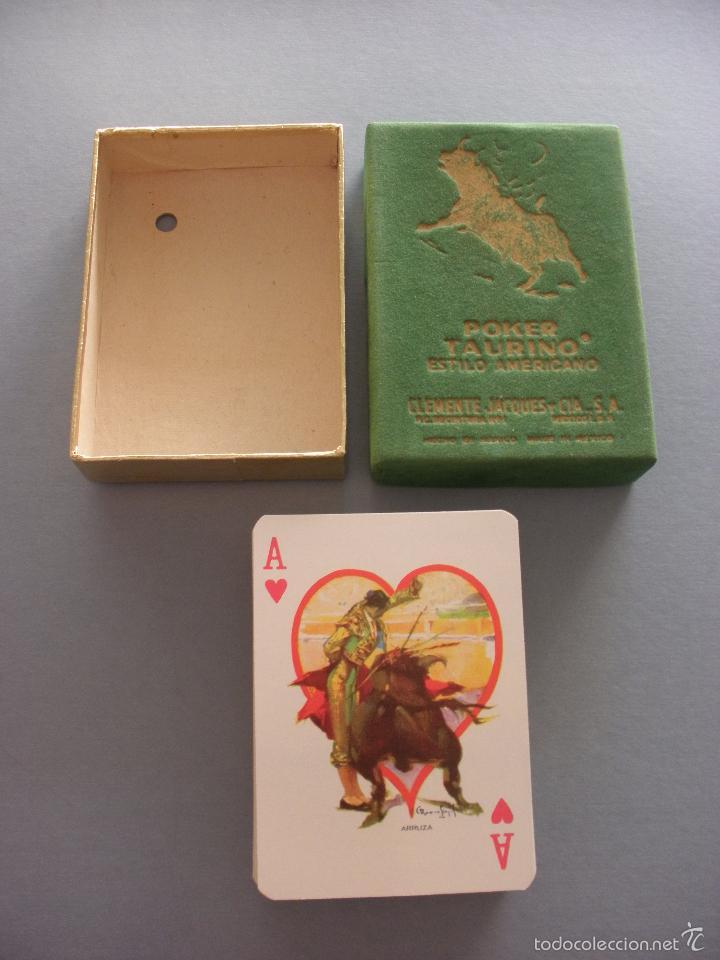 Barajas de cartas: BARAJA NAIPES TAURINA RUANO LLOPIS, CLEMENTE JACQUES, MEXICO 1940 - Foto 10 - 118221996