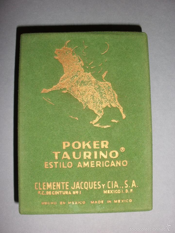 Barajas de cartas: BARAJA NAIPES TAURINA RUANO LLOPIS, CLEMENTE JACQUES, MEXICO 1940 - Foto 12 - 118221996
