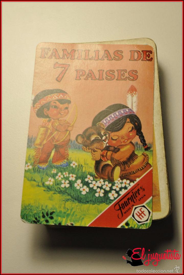 BARAJAS INFANTILES - FOURNIER 1979 - FAMILAS DE 7 PAISES (Juguetes y Juegos - Cartas y Naipes - Barajas Infantiles)