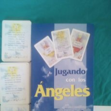 Barajas de cartas: CARTAS TAROT. JUGANDO CON LOS ÁNGELES. LIBRO + 2 BARAJAS. Lote 61287631
