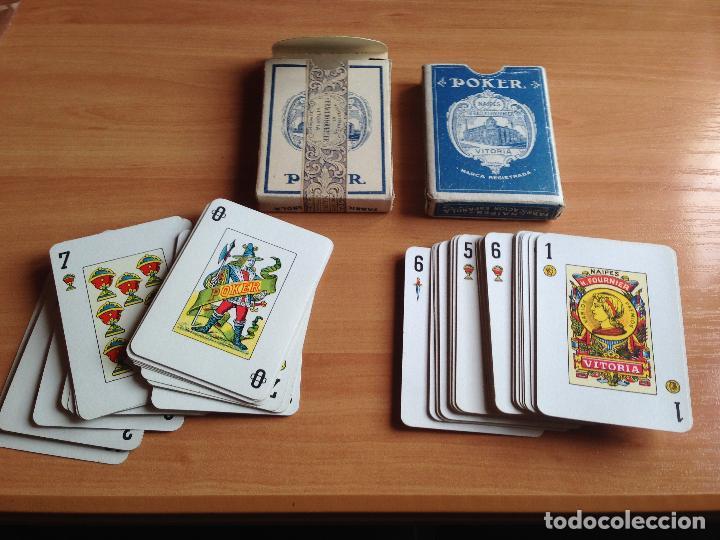 Barajas de cartas: LOTE 2 ANTIGUAS BARAJAS CARTAS POKER 21 ESPAÑOL HERACLIO FOURNIER - Foto 3 - 61842632