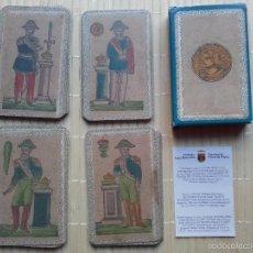 Barajas de cartas: REPRODUCCIÓN DE BARAJA ESPAÑOLA MINCHIALA ESTILO SICILIANO, DEL 1830 DEL ORIGINAL DEL MUSEO FOURNIER. Lote 113064500