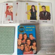 Barajas de cartas: ANTIGUA BARAJA INFANTIL SENSACIÓN DE VIVIR 90210 BEBERLY HILLS FOURNIER 1992. Lote 62054628