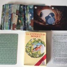 Barajas de cartas: ANTIGUA BARAJA INFANTIL LOS ANIMALES DEL BOSQUE FOURNIER 1992. Lote 62056112