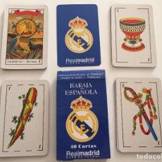 Barajas de cartas: ANTIGUA BARAJA ESPAÑOLA REAL MADRID AÑOS 90. Lote 62071388