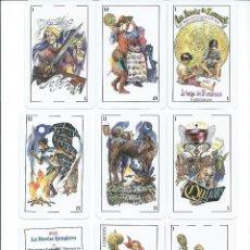 Barajas de cartas: BARAJA ESPAÑOLA LAS NOVELAS DE CERVANTES-ASESCOIN 2016. Lote 133029761