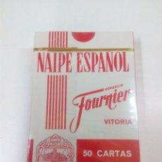 Barajas de cartas: BARAJA PRECINTADA NAIPE ESPAÑOL . HERACLIO FOURNIER - VITORIA . PROPAGANDA BRANDY FUNDADOR .. Lote 62520324
