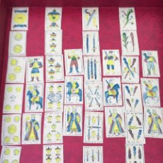 Barajas de cartas: BARAJA 40 NAIPES MUY RARA HEMISFERIOS CORONADOS PINILLOS DE VALLEJO 1845. Lote 62615056