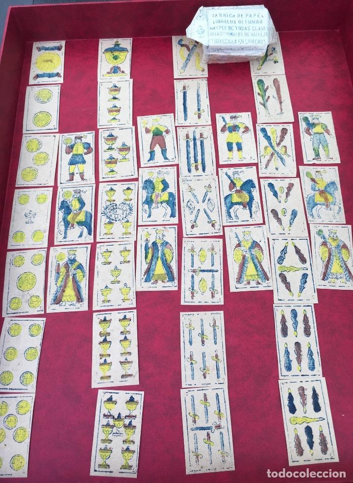 Barajas de cartas: BARAJA 40 NAIPES MUY RARA HEMISFERIOS CORONADOS PINILLOS DE VALLEJO 1845 - Foto 5 - 62615056