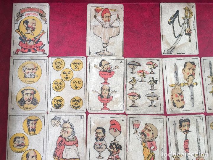 BARAJAS POLÍTICOS PERIÓDICO LA BROMA 40 NAIPES 1875 (Juguetes y Juegos - Cartas y Naipes - Baraja Española)