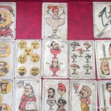 Barajas de cartas: BARAJAS POLÍTICOS PERIÓDICO LA BROMA 40 NAIPES 1875. Lote 62619964
