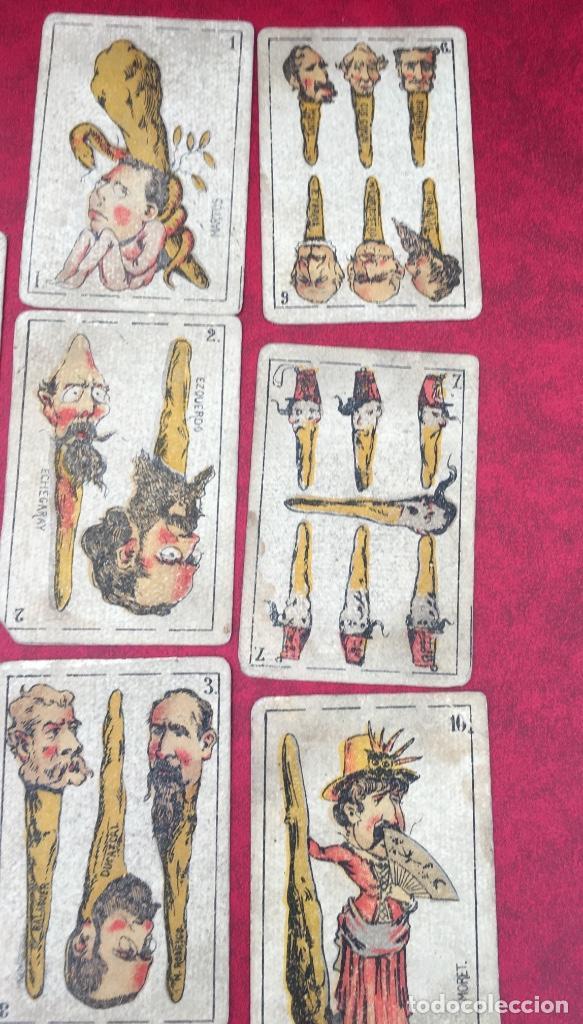 Barajas de cartas: BARAJAS POLÍTICOS PERIÓDICO LA BROMA 40 NAIPES 1875 - Foto 11 - 62619964