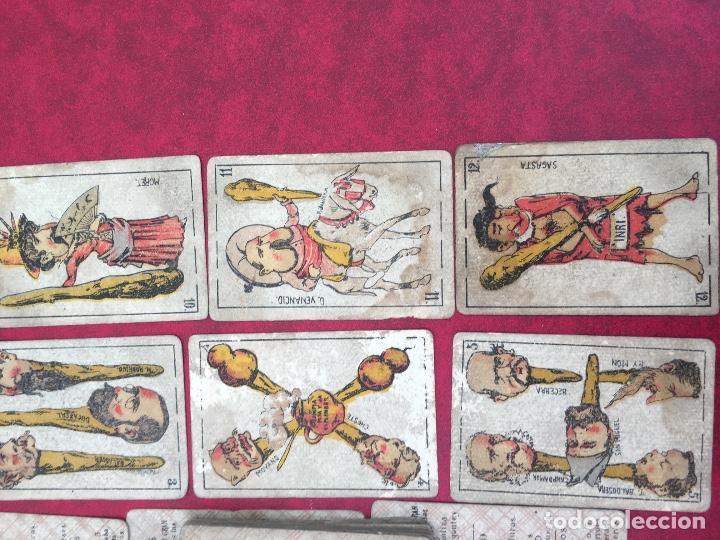 Barajas de cartas: BARAJAS POLÍTICOS PERIÓDICO LA BROMA 40 NAIPES 1875 - Foto 12 - 62619964