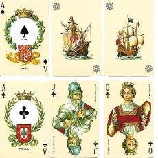 Barajas de cartas: BARAJA POKER NAVAL, POTENCIAS NAVALES EUROPEAS. SIN ESTRENAR, CANTOS DORADOS.. Lote 94118344
