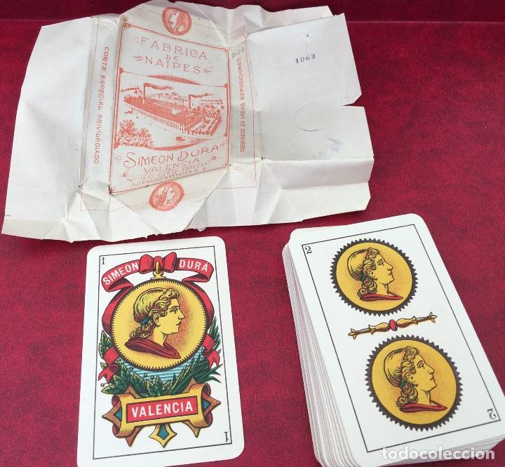 BARAJA 48 NAIPES SIMEON DURA NÚMERO 25 CLASE ESPECIAL VALENCIA 1931 (Juguetes y Juegos - Cartas y Naipes - Baraja Española)