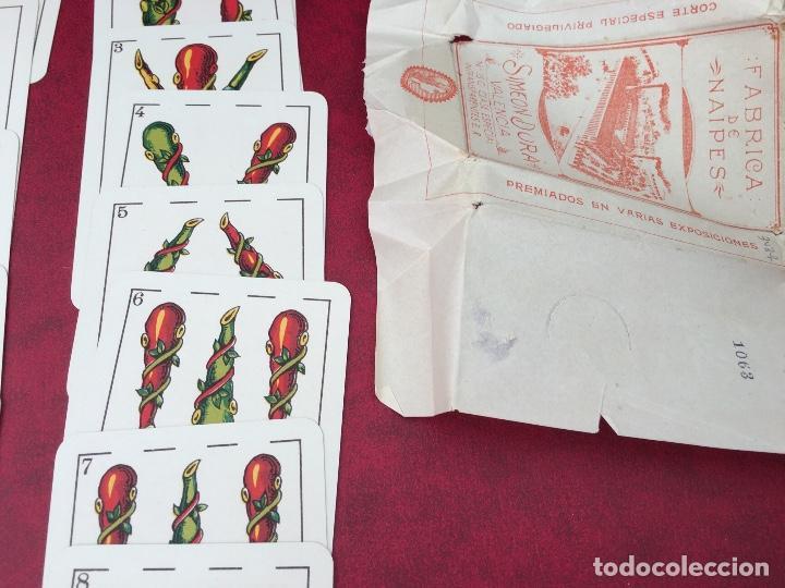 Barajas de cartas: BARAJA 48 NAIPES SIMEON DURA NÚMERO 25 CLASE ESPECIAL VALENCIA 1931 - Foto 7 - 62680292