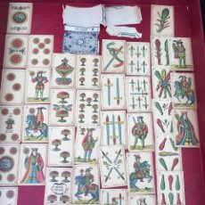 Barajas de cartas: BARAJA VAN GENECHTEN 40 NAIPES EL LEÓN SOBRE EL ESCUDO 1876. Lote 62682884