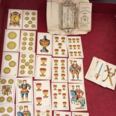 Barajas de cartas: BARAJA VIUDA ANTONIO COMAS 1911 48 NAIPES EL PERIQUITO. Lote 62683456