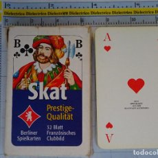 Barajas de cartas: BARAJA DE CARTAS DE ALEMANIA. AÑOS 80 90. SKAT. BERLINER SPIELKARTEN. Lote 62775124