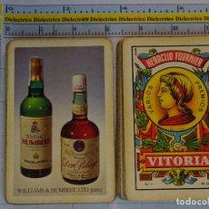 Mazzi di carte: BARAJA DE CARTAS ESPAÑOLA. FOURNIER. BEBIDAS. BOTELLAS DE BRANDY DON PELAYO Y WHISKY HUMBERT. JEREZ. Lote 62778996