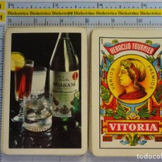Mazzi di carte: BARAJA DE CARTAS ESPAÑOLA. FOURNIER. BEBIDAS. BOTELLA DE RON GUARANÍ. Lote 62782124
