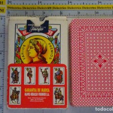 Barajas de cartas: BARAJA DE CARTAS ESPAÑOLA. CLÁSICA. FOURNIER. ESTAMPADO ROJO. 40 NAIPES. Lote 62786448