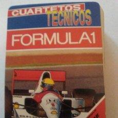 Barajas de cartas: CUARTETOS TECNICOS FORMULA 1 FOURNIER. Lote 63485172