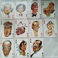 Barajas de cartas: LOTE 11 CARTAS DE PÓKER / EL JUEVES/ CARICATURAS GIN PERSONAJES NACIONALES-LANDA,PRESLEY. Lote 63544891