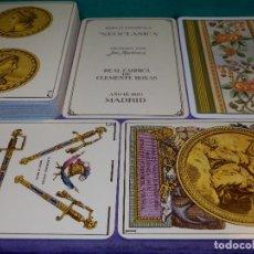 Barajas de cartas: BARAJA DE CARTAS - NEOCLÁSICA - FOURNIER - GRABADA JOSÉ MARTINEZ - REAL FÁBRICA DE CLEMENTE ROXAS. Lote 189947483