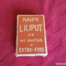 Barajas de cartas: BARAJA DE CARTAS NAIPES FOURNIER LILIPUT ..VERRR . Lote 63783823