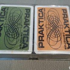 Barajas de cartas: DOS BARAJAS DE NAIPES PRAKTICA CAMERAS. Lote 63995662