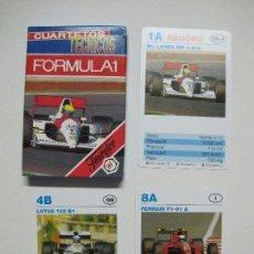 Barajas de cartas: BARAJA FOURNIER, FORMULA 1, FORMA CUARTETOS, 33 CARTAS. Lote 107577271