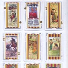 Barajas de cartas: BARAJA ESPAÑOLA CARTELES TAURINOS DE BARCELONA. Lote 217920671