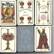 Barajas de cartas: ANTIGUA BARAJA, HIJA DE B. FOURNIER, BURGOS. Nº 1, PRECINTADA. TIMBRE 1,25 ROJO. MUY DIFICIL.. Lote 53721477