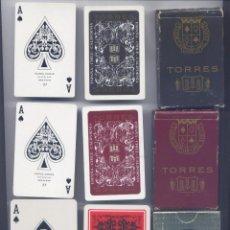 Barajas de cartas: LOTE 3 BARAJAS DE POKER DE BODEGAS TORRES Y BRANDY FUNDADOR. Lote 64857827