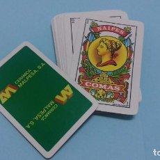 Barajas de cartas: BARAJA ESPAÑOLA 40 CARTAS NAIPES COMAS, AL DORSO PUBLICIDAD CERÁMICA MALPESA.. Lote 65809994